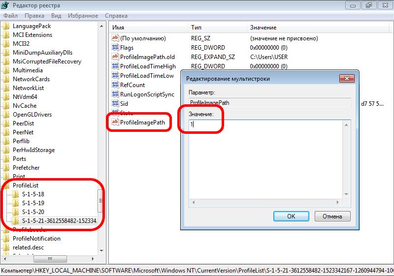 Создание параметра ProfileImagePath