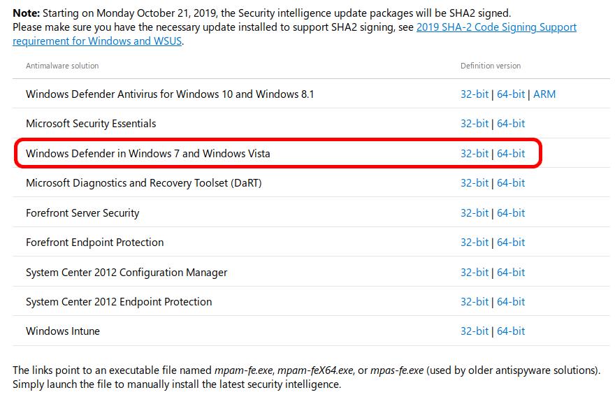 Загрузка Windows Defender Antivirus на официальном сайте