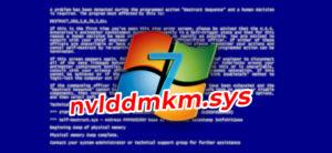 Как исправить синий экран nvlddmkm.sys