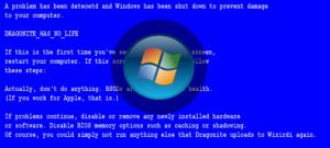 Как убрать синий экран смерти windows 7