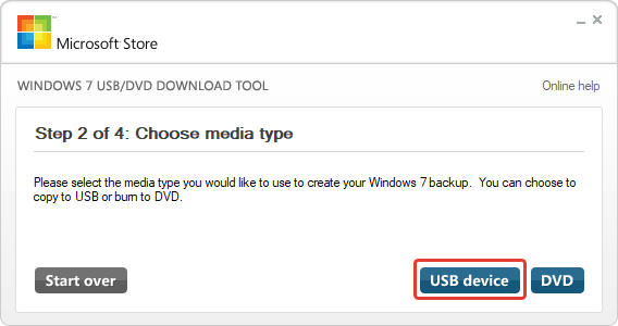 USB DVD Download Tool