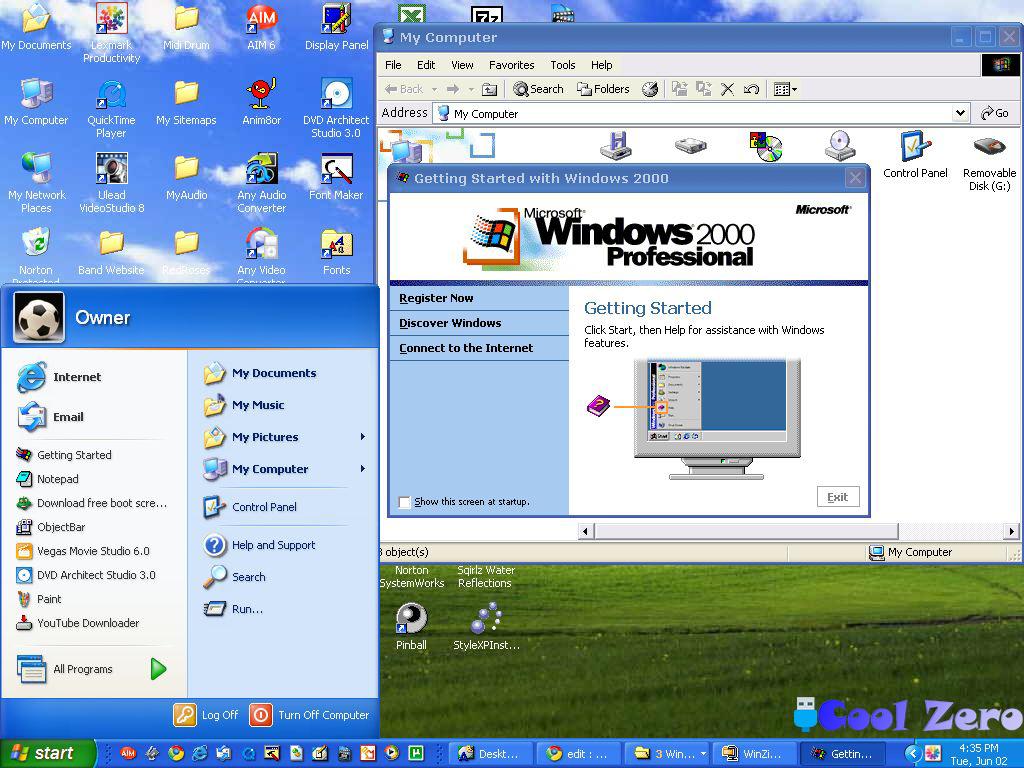 Интерфейс рабочего стола windows 2000