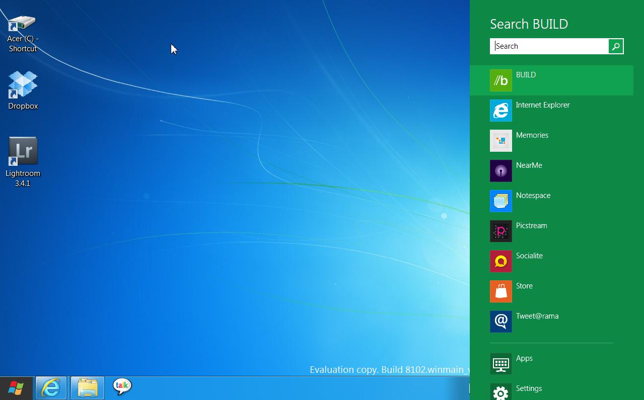 Интерфейс рабочего стола windows 8