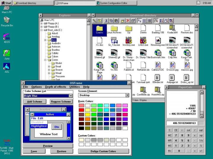 Интерфейс Windows 3.0