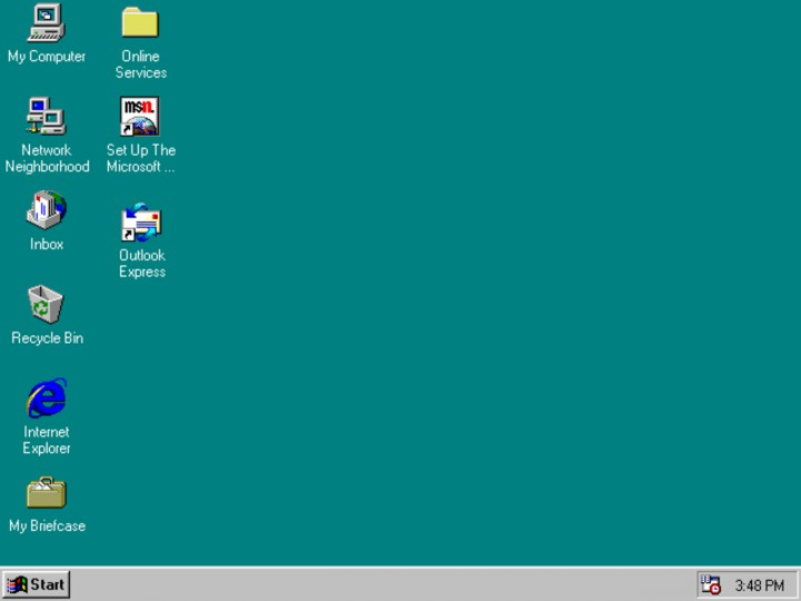 Интерфейс Windows 95
